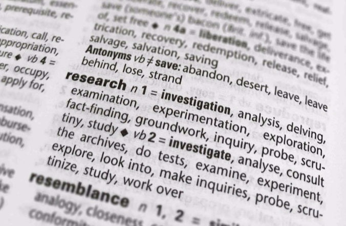 Definition of research in a dictionary